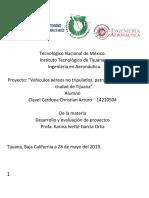 Christian Arturo Clavel Cardona- UAV- Proyecto Dron- Instituto Tecnologico de Tijuana