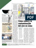 Cómo Reducir La Contaminación Del Aire en Lima