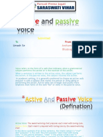 Rules of Active and Passive Voice