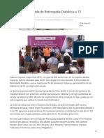 20-05-2019 - Beneficia XIII Jornada de Retinopatía Diabética a 13 municipios - H.canalsonora.com