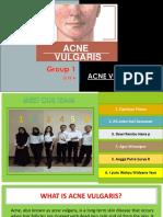 Group 1 Acne Vulgaris 2018A