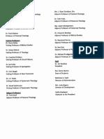 IRBS Theological Seminary Faculty (2018-2019)