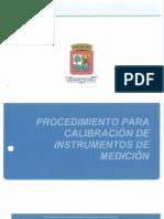37 Procedimiento Para Calibracion de Instrumentos de Medicion