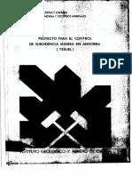 Proyecto para el control de subsidencia en minera andorra