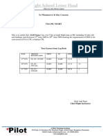 A Pilot DGCA CPL Licence Conversion Sample Documents