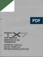 TX7 owner's manual