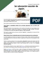La Educacion en Japon
