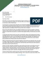 Syracuse-Onondaga NAACP Letter to Mayor Ben Walsh
