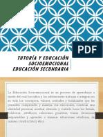 Tutoría y Educación Socioemocional