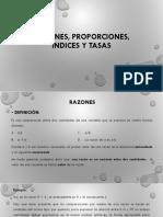 Razones, Proporciones,Indices  y tasas