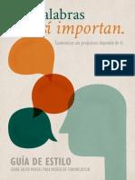 Guía de Estilo Comunicar Salud Mental