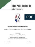Proyecto Calculador VSM Automatico Completo