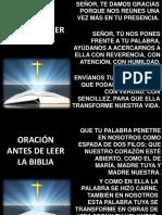 Oraciones Antes _ Después Leer La Biblia