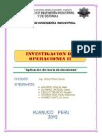 TEORÍA DE DECISIONES Y DIAGRAMA DE ÁRBOL
