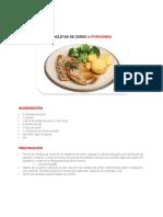 Tipos de comidas globales