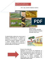 Recursos y Factores de La Produccion Agropecuaria
