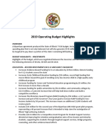2019 Operating Budget Highlights