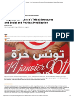"""""""Together for Tunisia""""_ Tribal Structures and Social and Political Mobilization _ Middle East Institute"""