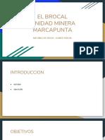 Exposición Mecánica de Rocas - El Brocal Marcavilca Norte