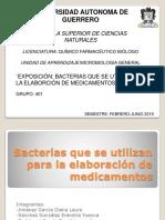 BACTERIAS QUE SE UTILIZAN PARA LA ELABORACIÓN DE MEDICAMENTOS