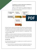 Normas Para El Control de Calidad Vigentes en Mejorar La Productividad en El Ecuador