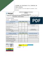 Formato de Control de Inocuidad en El Proceso de Mazamorray Chicha Morada