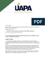 Tarea Ill de Español I, La Acentuacion