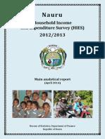 2012-13 Nauru HIES Report