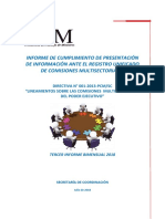 Informe Bimensual III Comisiones Multisectoriales Pcm