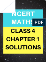 Chap 1 solution  , math ncert cls 4