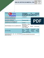 Programa de Gestión Documental Rectificadora de Motores Continental ltda.