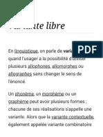 Variante Libre — Wikipédia
