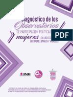 Diagnóstico de los Observatorios de Participación Política de las Mujeres en los Estados de Guerrero, Oaxaca y Morelos