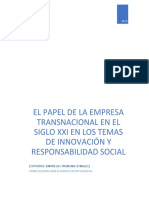 EL PAPEL DE LA EMPRESA TRANSNACIONAL EN EL SIGLO XXI EN LOS TEMAS DE INNOVACIÓN Y RESPONSABILIDAD SOCIAL
