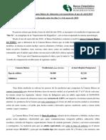 Informe Nº 67 Sobre Canasta Básica de Alimentos Correspondiente Al Mes de Abril 2019