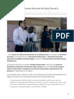 27-05-2019 Inicia La Tercera Semana Nacional de Salud Sexual y Reproductiva-Expreso