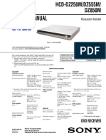 Sony Hcd Dz250m Dz555m Dz850m