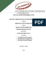Ejercicios de Resistencia de Materiales Responsabilidad Socila i