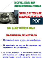 CAPITULO IV TEORIA DE MAQUINADO DE METALES  PROCESOS DE MANUFACTURA I.pptx