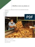 Fabricante de Marlboro Cierra Sus Plantas en Colombia