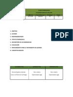 SG-PL-003.- Plan de Emergencia Blanca Estela SPA.