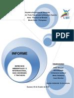 Informe Del Derecho Ambiental e Internacional