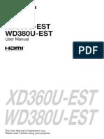 Manual Wd380u Est Xd360u Est