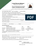 REVISED 2016 Information Sheet