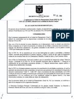 Decreto Distrital 262 de 2010
