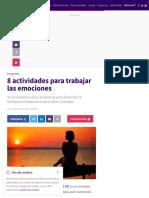 8 actividades para trabajar las emociones