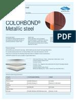 Color Bond Metallic Data Sheet