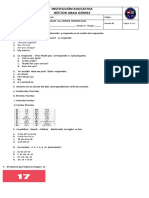 Ingles 5 Evaluacion Primer Periodo 2