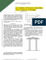 Evaluation of Static Modulus of Elasticity Depending on Concrete Compressive Strength