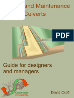 Design and Maintenance of Culverts